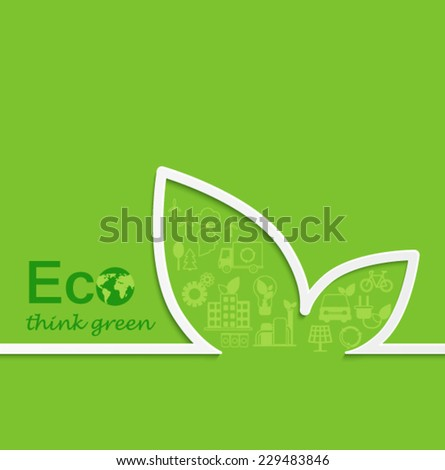 Creative eco concept design. Flat design. - stock vector