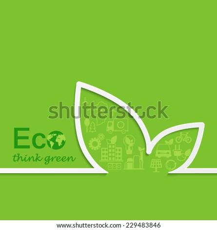 Creative eco concept design. Flat design. - stock vector