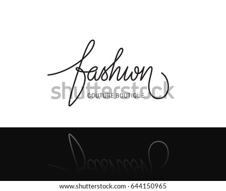 Creative Fashion Logo Design Vector Lettering Sign Logotype Calligraphy