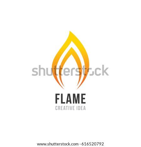 Creative Flame Concept Logo Design Template Stock Vector (2018 ...