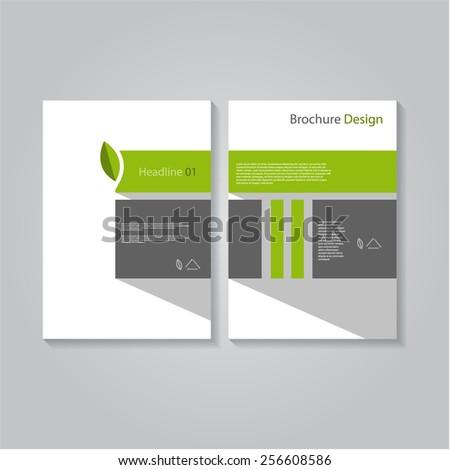 Creative flat eco leaf brochure / flyer / banner design, eps10 Vector. - stock vector
