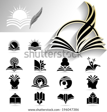 Creative flat icons of professionally made set for designs in grey scale and back & white - stock vector