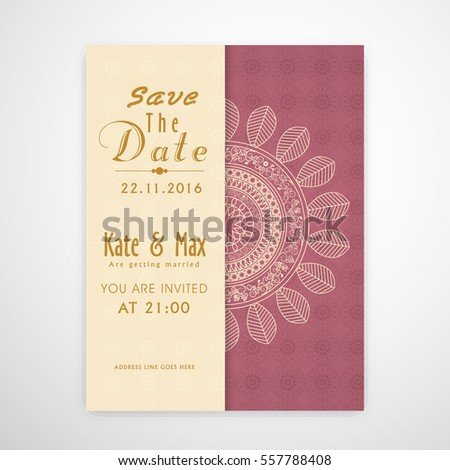 Creative Floral Wedding Invitation Card Design