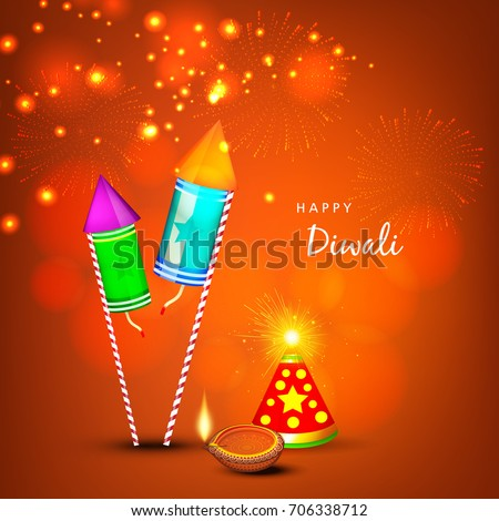 Creative Greeting Card Design For Happy Deepavali Festival Celebration On Decorative Background With Floral Rangoli