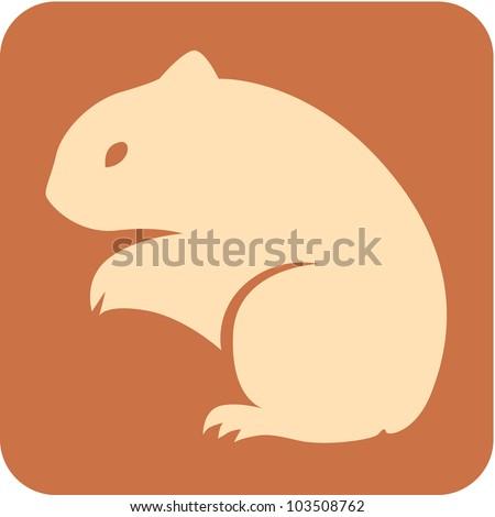 Creative Hamster Icon - stock vector
