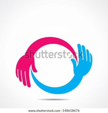 creative hand icon vector concept vector - stock vector