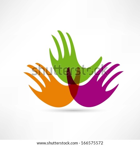 creative handshake vector icon - stock vector