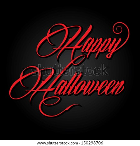creative happy Halloween background vector - stock vector