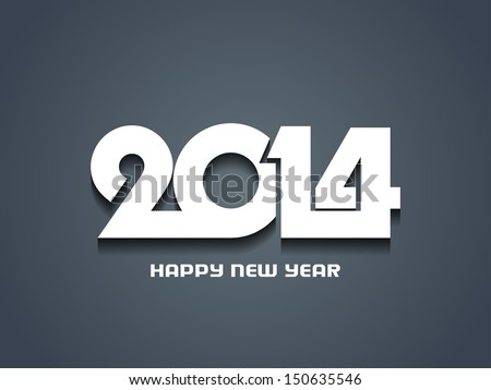creative happy new year 2014 design. - stock vector