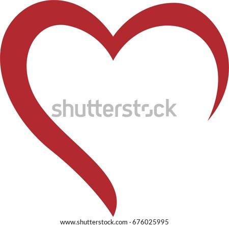Creative Heart Logo Stock Vector 676025995 Shutterstock
