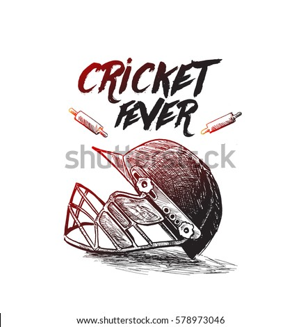 Creative helmet for Cricket Championship concept.