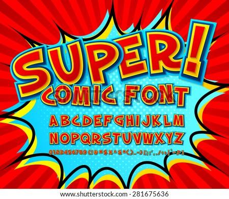 Creative Comic Font Alphabet Style Comics Stock Vector 296611394 ...