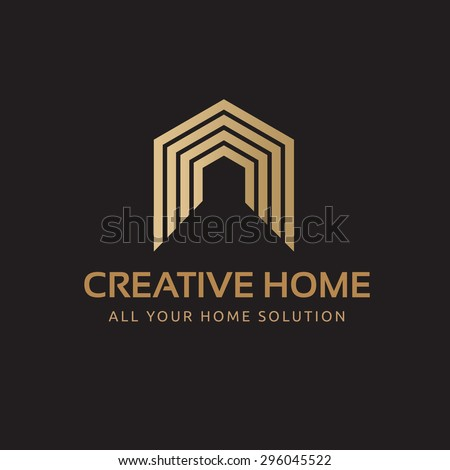 Creative Home Vector Logo Template - stock vector
