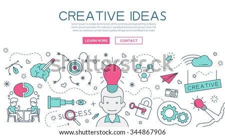 Creative Idea for website banner and landing page , eps10 vector format - stock vector
