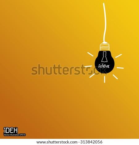 Creative idea in bulb shape as inspiration concept. - stock vector