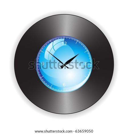 Creative idea of design of a Clock - stock vector