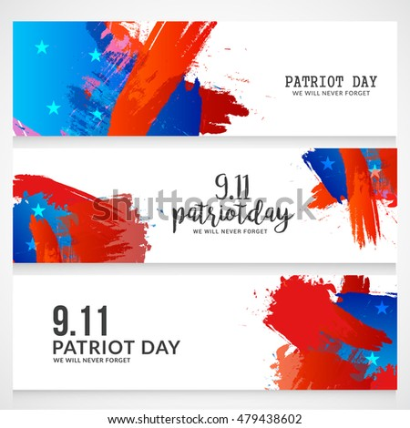 Creative illustration,banner or header of patriot day.