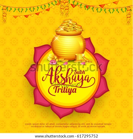Creative Illustration For Festival Of Akshaya Tritiya Celebration Background.