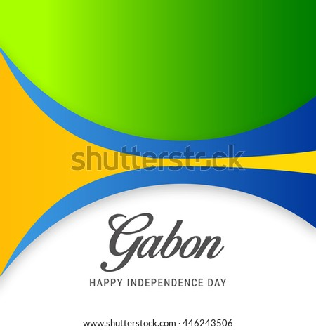 Creative illustration for Independence day of gabon.