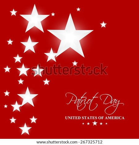 Creative illustration of Patriot Day with nice and creative red colour background with white colour multiple star. - stock vector