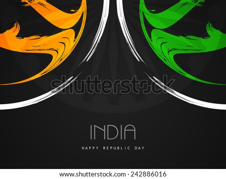 Creative Indian flag theme design on black color background.  - stock vector