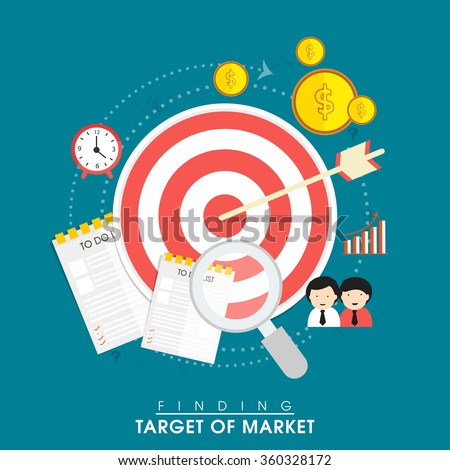Creative infographic elements for Finding Target of Market. - stock vector