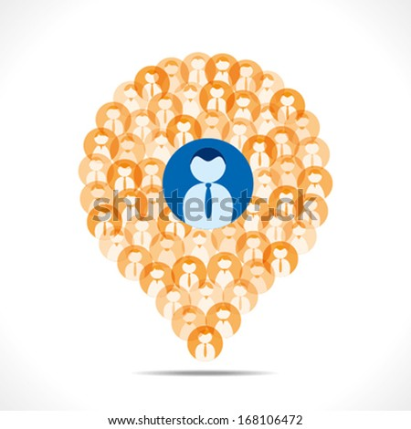 creative leadership concept , message bubble shape team, leader and his team member background vector - stock vector