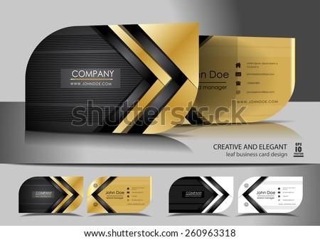 creative leaf business card design stock vector 260963318