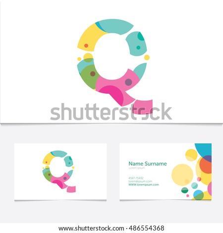 Creative Letter Q Design Vector Template Stock Vector 486554368 ...