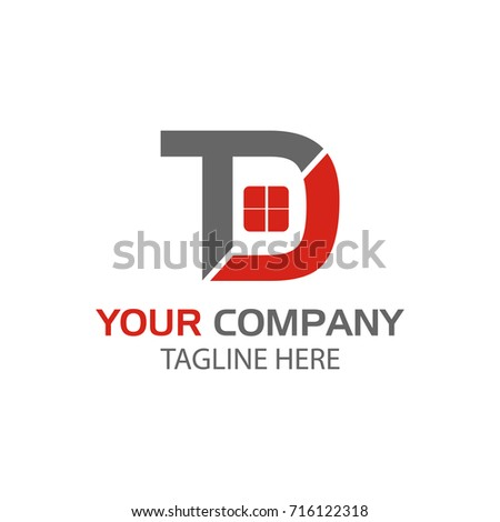Creative Letter Td Logo Design Home Stock Vector Hd Royalty Free