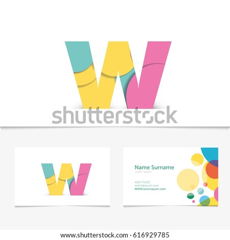 Creative letter w design vector template stock vector hd royalty creative letter w design vector template on the business card template abstract colorful alphabet thecheapjerseys Gallery