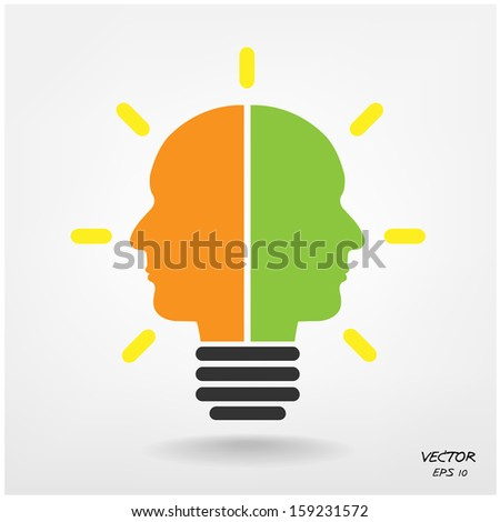 Creative light bulb, Business and ideas concepts,Vector illustration. - stock vector