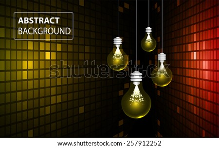 Creative light bulb Idea concept background, design for poster flyer cover brochure ,business idea ,abstract background.vector illustration. text box. label. technology. abstract. Table, Mosaic - stock vector