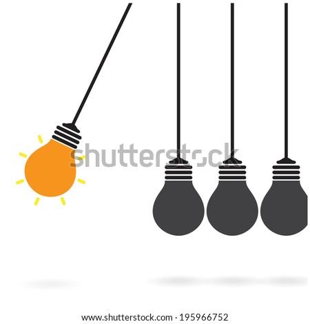creative light bulb Idea concept,business idea ,abstract background.vector illustration - stock vector