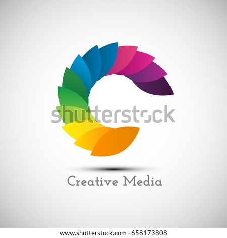 Creative Logo Design Icon Colorful Letter Stock Vector 658173808
