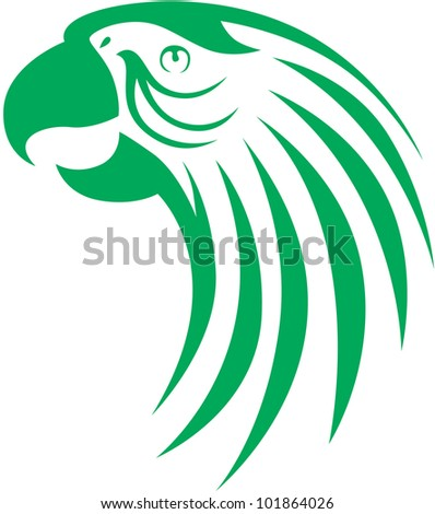 Creative Macaw Parrot Illustration - stock vector