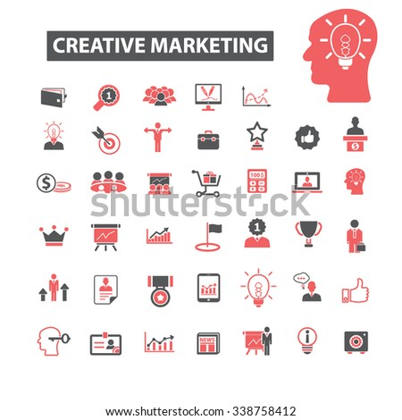 creative marketing  icons, signs vector concept set for infographics, mobile, website, application  - stock vector