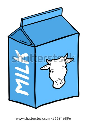 creative milk box - stock vector