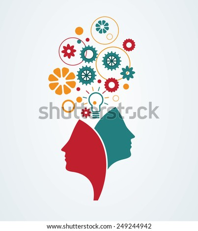 Creative minds - stock vector