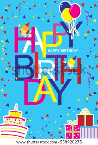 Creative modern birthday greeting card cool stock vector 558920275 creative modern birthday greeting card with cool and artistic font style and happy birthday wish with bookmarktalkfo Images