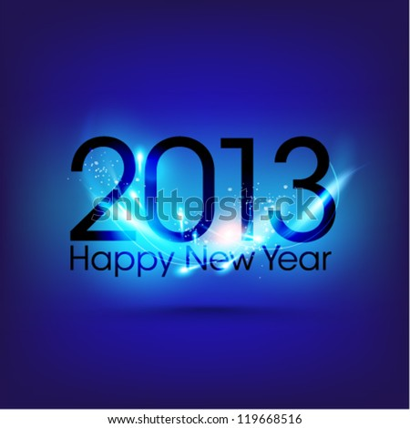 Creative 2013 new year graphic design