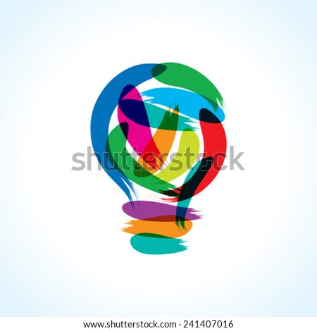 creative painting idea - stock vector