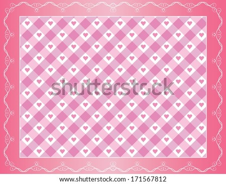 Creative pink vintage style background with little hearts. Easy to edit eps10 vector design, raster available in my portfolio. - stock vector