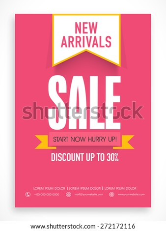 Creative poster, banner or flyer design of Best Price Sale with discount offer. - stock vector