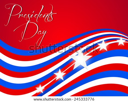 Creative President day sale abstract with red and American flag style  background - stock vector