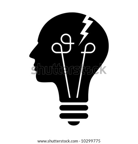 Creative process interrupted. - stock vector