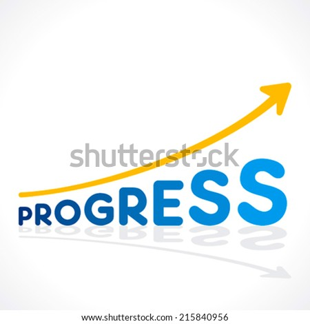creative progress word growth graph vector - stock vector