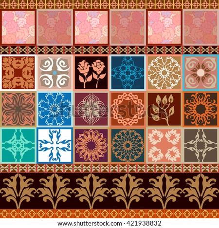 Creative Set Seamless Wallpaper Tile Art Stock Vector