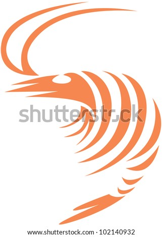 Creative Shrimp Illustration - stock vector