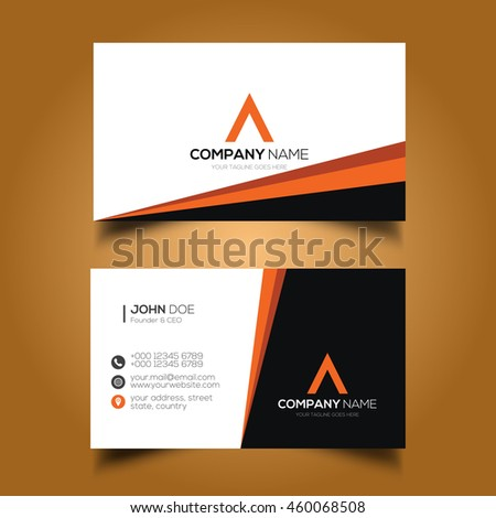 Creative simple corporate business card stock vector 460068508 creative simple corporate business card reheart Images